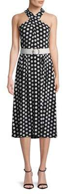 MICHAEL Michael Kors Polka Dot Halterneck Dress