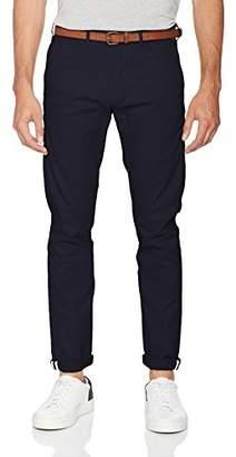 Hommes Ams Chino Slim Fit Blauw Classique Dans Le Confort Extensible Jasé Scotch Pantalon Et Soda DdV3H3c