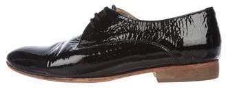 Dieppa Restrepo Patent Leather Round-Toe Oxfords