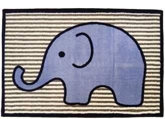 Bacati Elephants Blue/grey Rug