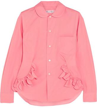 Comme des Garçons Comme des Garçons - Ruffle-trimmed Cotton Shirt - Pink $455 thestylecure.com