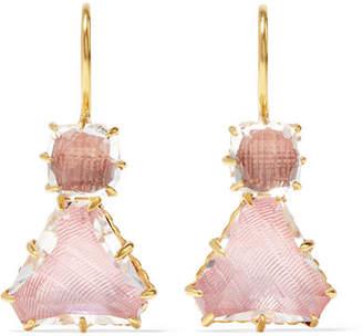 Larkspur & Hawk - Caterina Gold-dipped Quartz Earrings