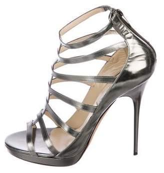 Jimmy Choo Estoria Metallic Sandals