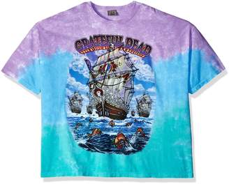 Liquid Blue Men's Big and Tall Grateful Dead Ship of Fools Tie Dye Short Sleeve T-Shirt