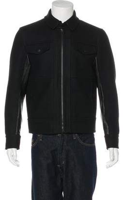 Gucci Wool & Leather Jacket