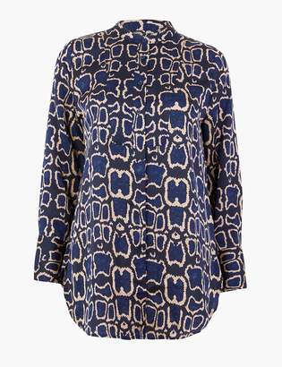 M&S CollectionMarks and Spencer PETITE Snake Print Longline Shirt