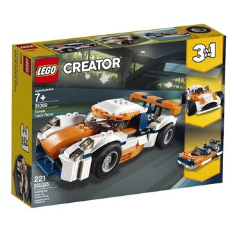 Lego Creator 3-in-1 Buildable Toy Racing Vehicle Sunset Track Racer 31089
