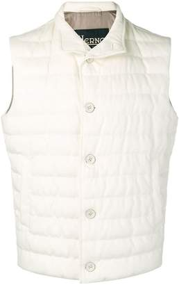 Herno padded button vest