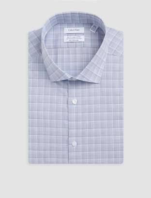 Calvin Klein steel slim fit aqua blue plaid dress shirt