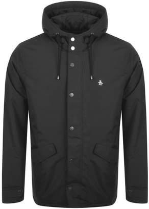 Original Penguin Fleece Lined Anorak Jacket Black