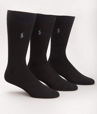 Ralph Lauren Polo men's socks Dress Supersoft flat knit 3pairs
