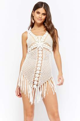 Forever 21 Crochet Fringe-Trim Dress