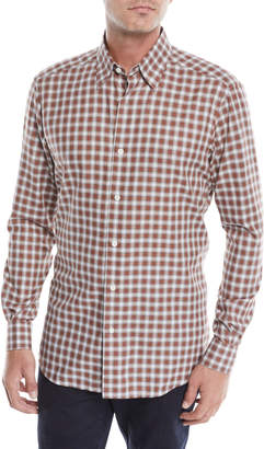 Ermenegildo Zegna Men's Woven Plaid Button-Down Shirt
