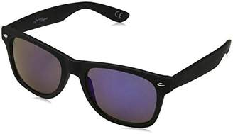 Jeepers Peepers Men's JP0016 Sunglasses, Black/Blue revo, 60