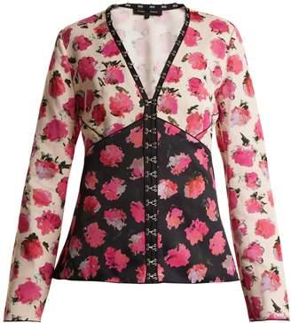 Proenza Schouler Floral-print V-neck blouse