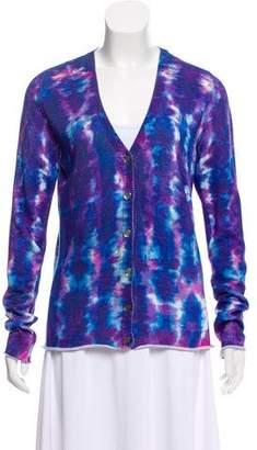 Lucien Pellat-Finet Embellished Tie-Dye Cardigan