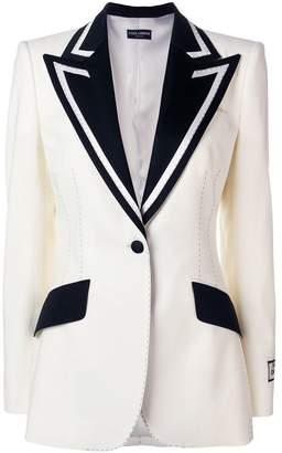 Dolce & Gabbana contrast lapel blazer