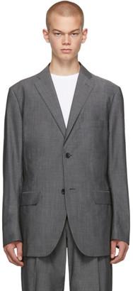 Issey Miyake Grey Wool Voile Blazer