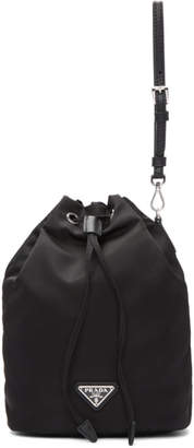 Prada Black Nylon Bucket Pouch