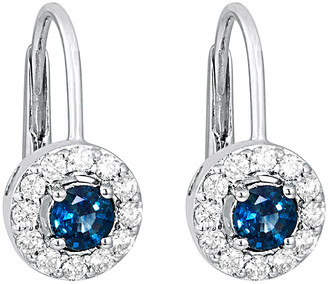 LeVian Le Vian 14K 0.91 Ct. Tw. Diamond & Sapphire Drop Earrings