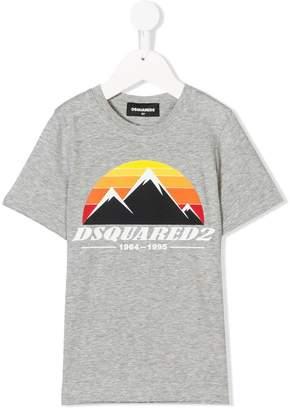 DSQUARED2 mountain range print T-shirt