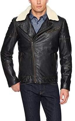 LAMARQUE Men's AKI Vintage Biker Jacket