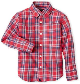 Untuckit (Boys 4-7) Red Plaid Shirt