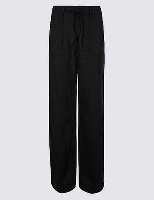 Marks and Spencer Linen Rich Wide Leg Trousers