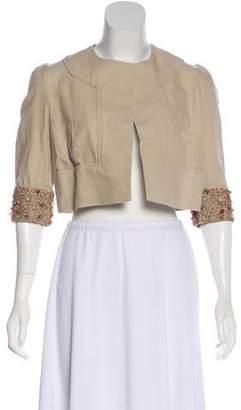 Diane von Furstenberg Remo Beaded Cropped Jacket