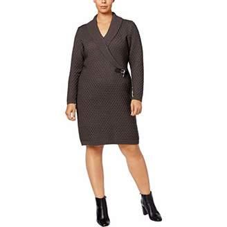 24c2279c152 Calvin Klein Women s Plus Size Faux Wrap Sweater Dress