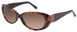 BCBGMAXAZRIA Women's Dashing Oval Sunglasses