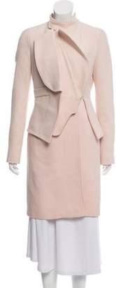 Givenchy Wool Peplum Coat