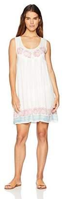 Oasis Wild Beachwear Women's Basic Sleeveless Tank Mid Thigh Short Dress