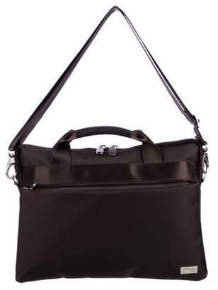 Bric's Nylon Zip Briefcase brown Nylon Zip Briefcase