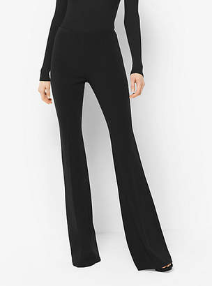 Michael Kors Flared Stretch-Wool Trousers