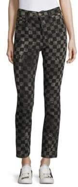 Marc Jacobs Checker-Printed Denim Pants