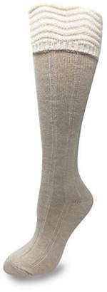 SILKS Casual Ribbed Knee High Cuff Socks