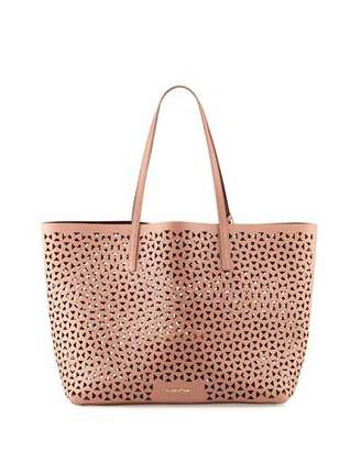 Elizabeth and James Daily Perforated Leather Tote Bag, Twig/Wine $445 thestylecure.com