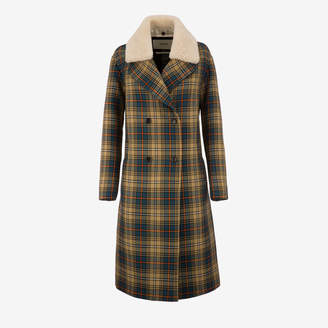 Bally Check Double Breasted Coat