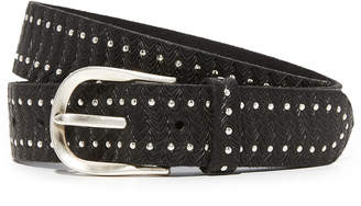 B. Belt Mini Border Studs Embossed Belt