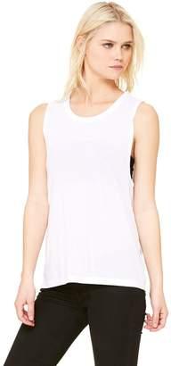 B.ella Womens Flowy Scoop Muscle Tank(B8803)-White-M