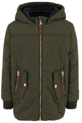 George Khaki Shower Resistant Quilted Jacket