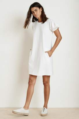 Velvet by Graham & Spencer MOLLIE STRUCTURED COTTON PUFF SLEEVE DRESS