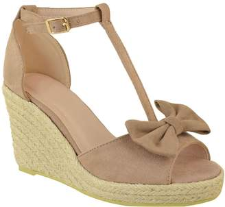 2477c83a5ab Fashion Thirsty Womens Espadrilles High Heel Wedge Summer Sandals Ankle  Strappy Bow Size 5
