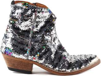 Golden Goose Sequined Coated Cowboy Boots