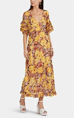By Ti Mo byTiMo Women's Floral Georgette Ruffled Midi-Dress
