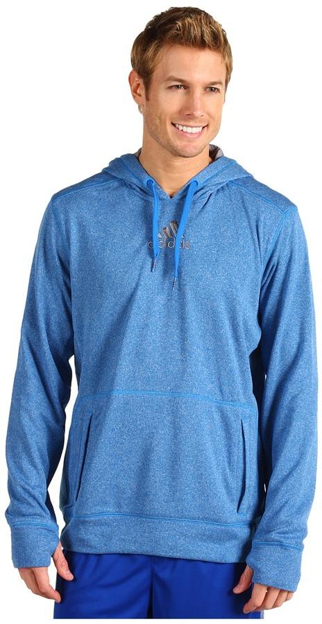 adidas Ultimate Tech Pullover Hoodie (Bright Blue/Tech Grey) - Apparel
