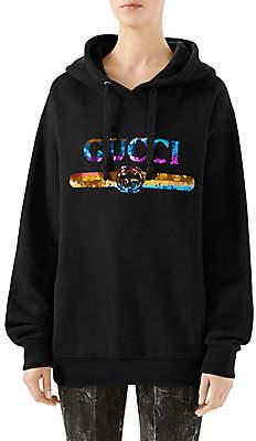 Gucci Women's Sequin Logo Hoodie
