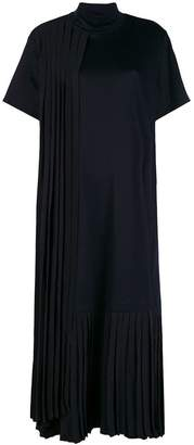 Jil Sander Navy half sleeve pleated midi dress