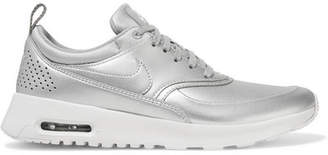 Nike Air Max Thea Metallic Faux Leather Sneakers - Silver